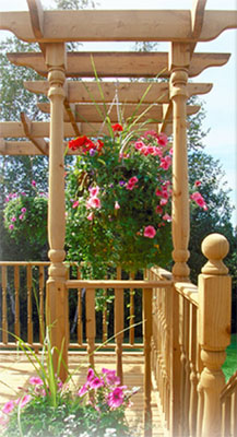 Marwood Suntrellis Cedar Deck Accessories